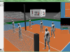 3D Visualization - volleyball - AGH IMiR - flight path side view