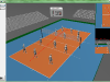 3D Visualization - volleyball - AGH IMiR - setting athletes