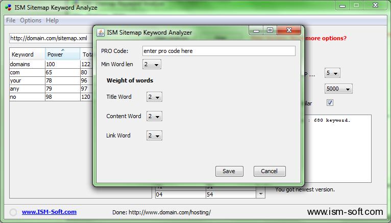 free ism sitemap keyword analyzer ism